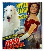 Borzoi Art - Anna Karenine Movie Poster Fleece Blanket