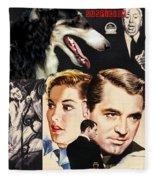 Borzoi Art - Suspicion Movie Poster Fleece Blanket