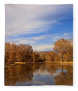 Bosque Del Apache Reflections Fleece Blanket