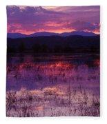 Bosque Sunset - Purple Fleece Blanket