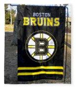 Boston Bruins Flag Fleece Blanket