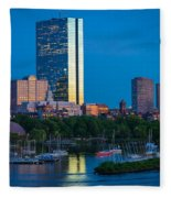 Boston By Night Fleece Blanket