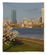 Boston Charles River On A Spring Day Fleece Blanket