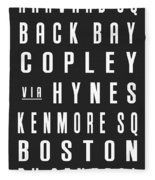 Boston City Subway Fleece Blanket