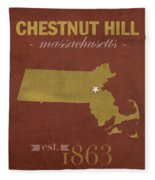 Boston College Eagles Chestnut Hill Massachusetts College Town State Map Poster Series No 020 Fleece Blanket