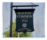 Boston Common Park Sign, Boston, Ma Fleece Blanket