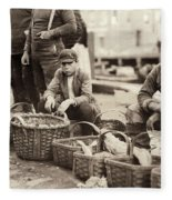 Boston Fish Market, 1909 Fleece Blanket