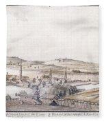 Boston Harbor, 1775 Fleece Blanket