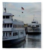 Boston Harbor Cruise Three In A Row Fleece Blanket
