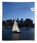 Boston Harbor Fleece Blanket