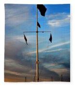 Boston Harbor Twilight Fleece Blanket