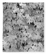 Boston Ivy In Monochrome Fleece Blanket