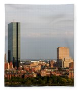 Boston John Hancock Tower Skyline Fleece Blanket