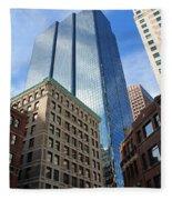Boston Ma Architecture Fleece Blanket