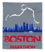 Boston Marathon3 Fleece Blanket