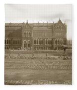 Boston Museum Of Fine Art On Copley Square Massachusetts Circa 1900 Fleece Blanket