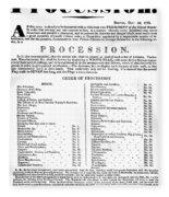 Boston Procession, 1789 Fleece Blanket