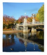 Boston Public Garden Autumn Fleece Blanket