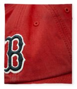 Boston Red Sox Baseball Cap Fleece Blanket