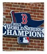 Boston Red Sox World Champions Fleece Blanket