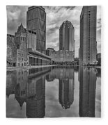 Boston Reflections Bw Fleece Blanket
