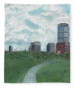 Boston Skyline 1968 Fleece Blanket