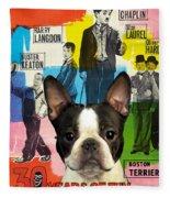 Boston Terrier Art - 30 Years Of Fun Movie Poster Fleece Blanket