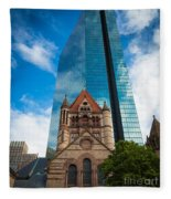 Boston Trinity Church Fleece Blanket