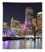 Boston Waterfront Fleece Blanket