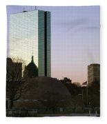 Bostons John Hancock Tower Massachusetts Fleece Blanket