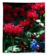 Botanic Garden Abstract Fleece Blanket