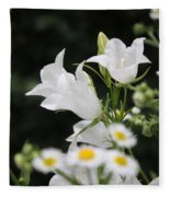 Botanical Beauty In White Fleece Blanket