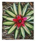 Botanical Flower Fleece Blanket