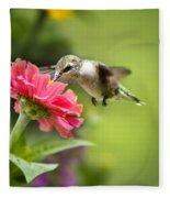 Botanical Hummingbird Fleece Blanket