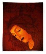 Boticelli Madonna Vignette Fleece Blanket