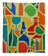 Bottles And Glasses 2 Fleece Blanket