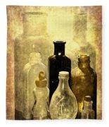 Bottles From The Past Fleece Blanket