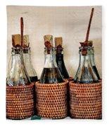 Bottles In Baskets Fleece Blanket