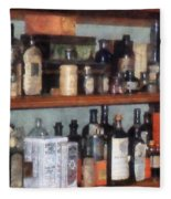Bottles In General Store Fleece Blanket