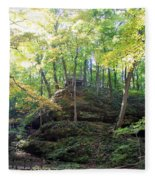 Bottom Of Devil's Punchbowl Wildcat Den Fleece Blanket