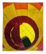 Bottoms Up Hot Air Balloon Fleece Blanket