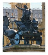 Boudicca Statue And Parliament 5805 Fleece Blanket