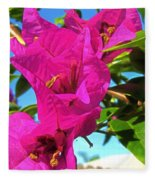 Bougainvillea Beauty Fleece Blanket