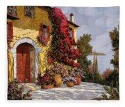 Bouganville Fleece Blanket