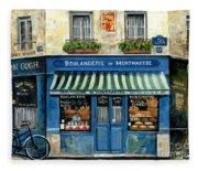 Boulangerie De Montmartre Fleece Blanket