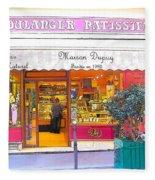 Boulangerie Patisserie In Paris Fleece Blanket