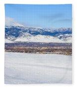 Boulder Colorado Fleece Blanket