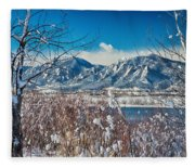 Boulder Colorado Winter Season Scenic View Fleece Blanket