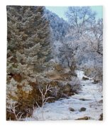 Boulder Creek Winter Wonderland Fleece Blanket