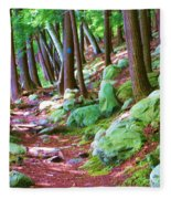 Boulder Forest Fleece Blanket